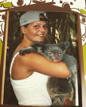 Cuddling a Koala x